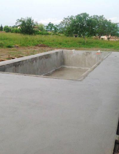 Coulage terrasse et piscine