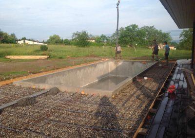 Coulage terrasse et piscine - préparation