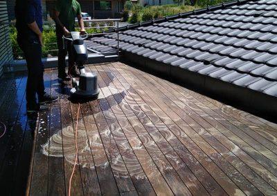 Nettoyage de la terrasse