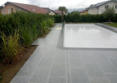 Terrasse Plage de piscine en granit