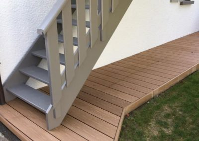 Terrasse composite - forme spéciale