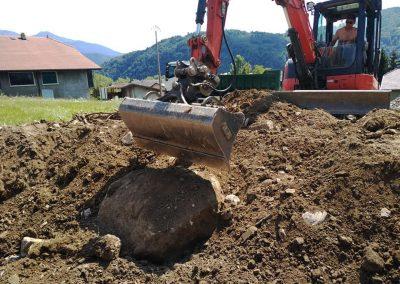 Terrassement et enlèvement des déchets